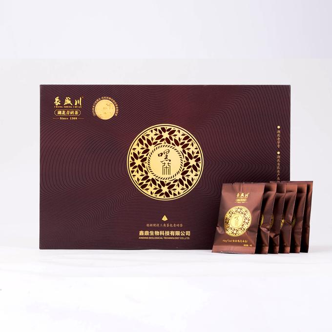 长盛川湖北青砖茶颗粒礼盒装