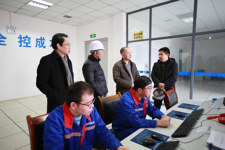 省能源局监管处处长冉述楣检查力能公司安全生产工作