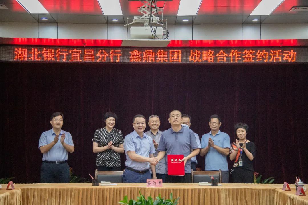 湖北银行宜昌分行与鑫鼎集团签署战略合作协议